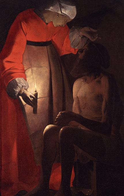 Job raillé par sa femme de Georges de la Tour