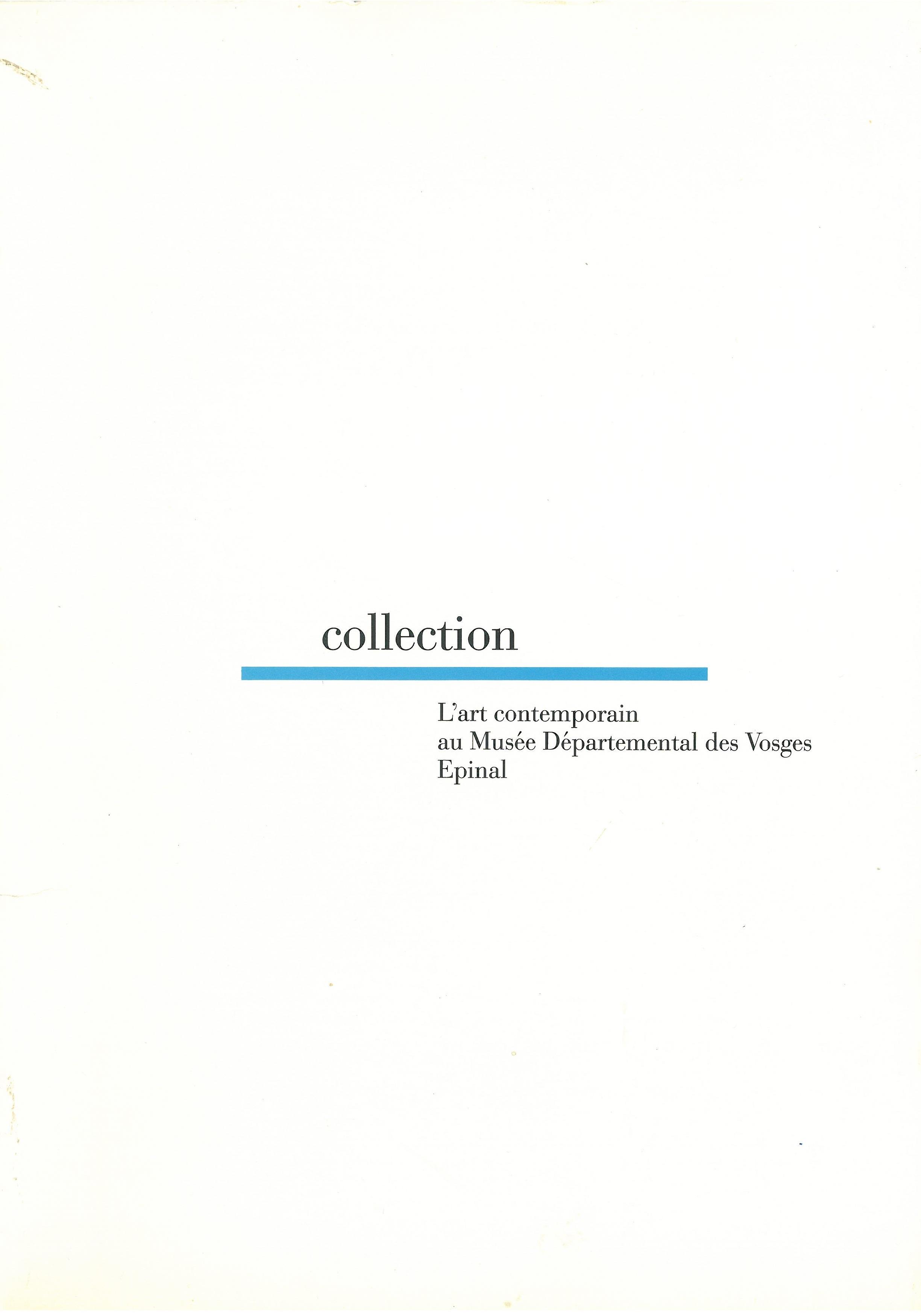 Collection d'art contemporain 1986